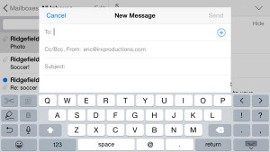 The iPhone 6 Plus can put certain apps, like Mail, in landscape mode
